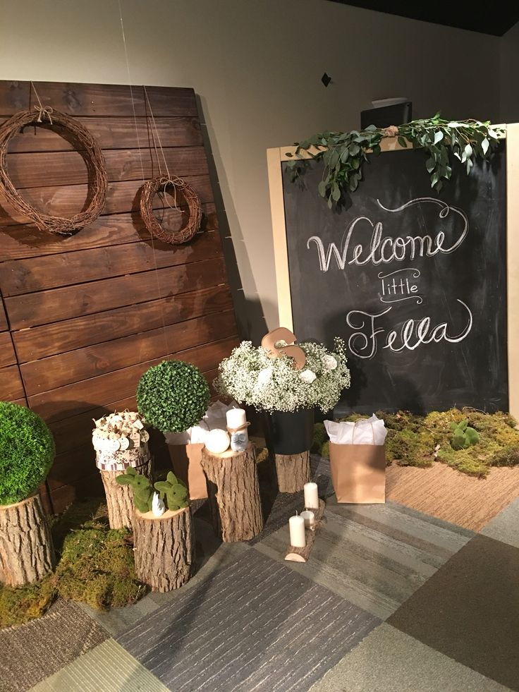 25 best ideas about woodsy baby showers on pinterest for Baby shower door decoration