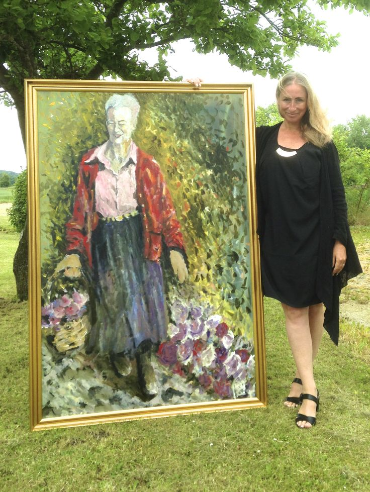 Portrait of Queen Margrethe II of Denmark - Katherine Scrivens