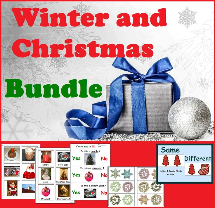 Winter & Christmas BUNDLE for Autism and Special Ed #autism #Christmas For more resources follow https://www.pinterest.com/angelajuvic/autism-special-education-resources-angie-s-tpt-sto/