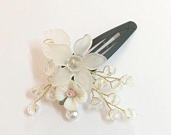 Flower Girl Hair Clip Headpiece Flower Toddler от FlowerRainbow