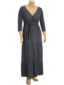 Women's Plus Tiered Cross-Front Maxi Dress (Carbon). Old Navy. $44.94: Maxi Dresses, Size Dresses, Dress Carbon, Navy Dresses, Cross Front Maxi, Style Pinboard, Dresses 46