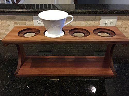 Modern Coffee Pour Over Stand made for Melitta Porcelain-4 Hole Station