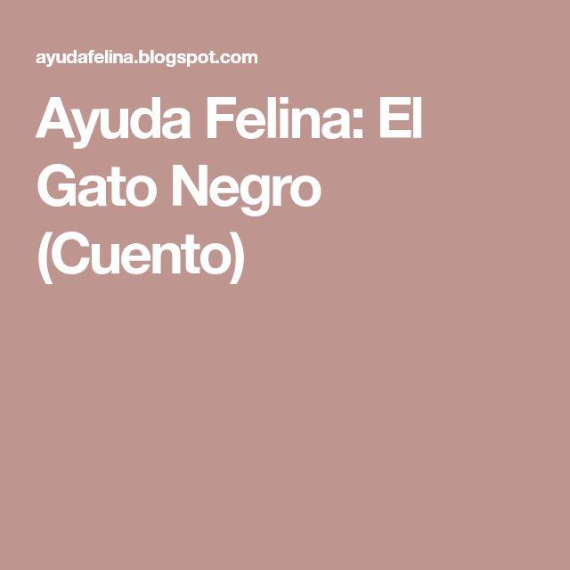 Ayuda Felina: El Gato Negro (Cuento)