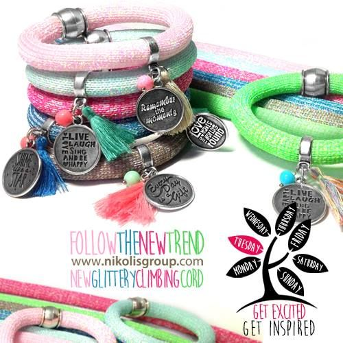 new glitter colors on climbing cord! find them @www.nikolisgroup.com