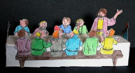 Lord's Supper - Jesus and the disciples celebrate the Passover craft