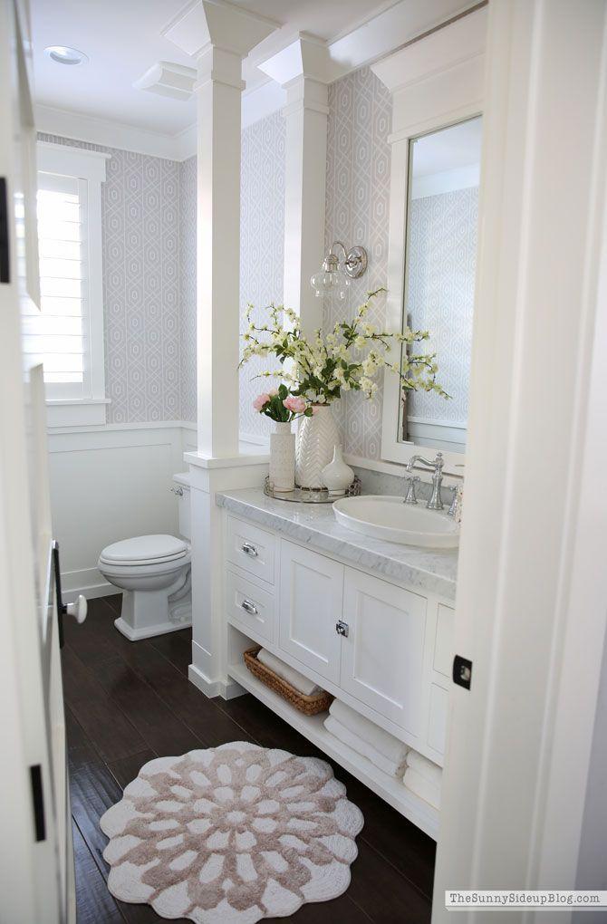 Powder Bathroom Summer Decor In 2020 Bathroom Rugs Bathroom Trends Unique Bathroom