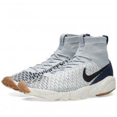 Nike Air Footscape Magista Flyknit, Chaussures de Football Homme, Gris (Wolf Grey/Wolf Grey-Cool Grey), 42 EU