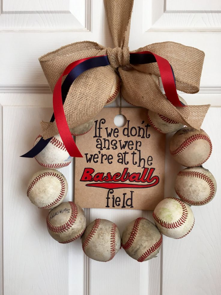 We're At the Baseball Field Wreath by DoorsGoneWild on Etsy https://www.etsy.com/listing/266281693/were-at-the-baseball-field-wreath