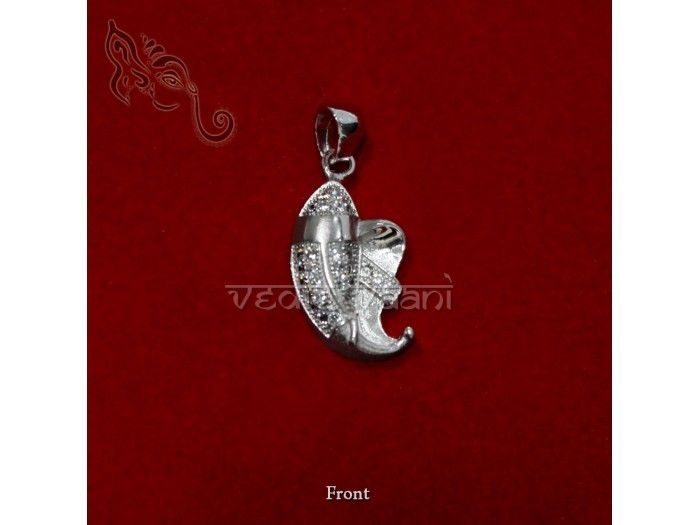 Ganpati Locket pure silver with small diamond studded on that gives it an attractive look. Ganesha is believed to be born from sandal wood paste from Goddess Parvati's body. He has an elephant head,big belly and long ears. http://vedicvaani.com/Sterling-Silver-Ganpati-Locket  Online from India