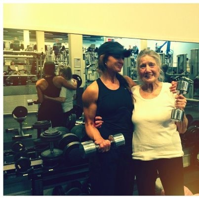 39 and 82 years old. Age is just a number! #Women #weights #health #strong #power