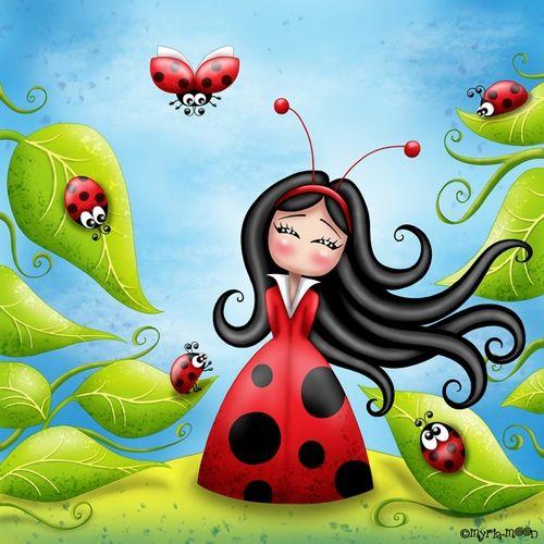 fantasy land ladybugs moons - photo #20