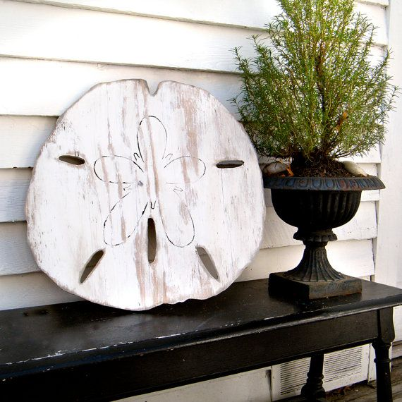 Oversized Sand Dollar Sign Giant Sand Dollar by SlippinSouthern, $68.00