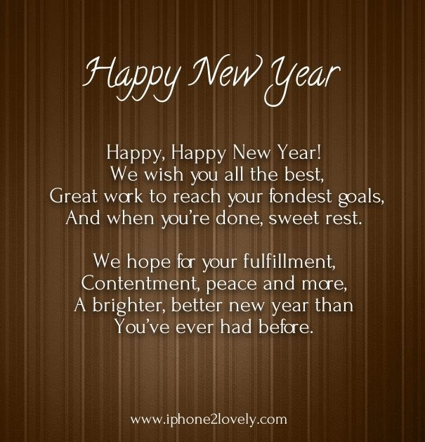 Inspirational Day Quotes: Best 25+ Happy New Year Poem Ideas On Pinterest