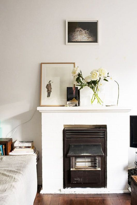 spring floral and art mantle decor. / sfgirlbybay