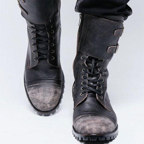 Military Vintage Biker Boots-Shoes 41 - GUYLOOK