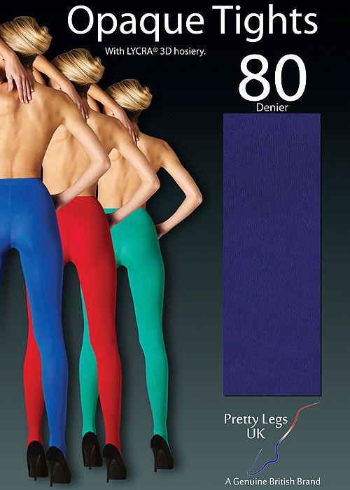Pretty Legs 80 Denier Luxury Coloured Opaque Tights  UkTights