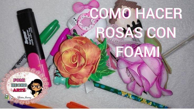 COMO HACER UNA ROSA CON FOAMI/ MANUALIDADES DE REGRESO A CLASES   Aprende con este tutorial la manera como hacer una hermosa rosa con foami, además, la podrás usar como puntera para lápices.  ***************************************************************************************************************** ¿Sabías que dar me gusta y COMPARTIR mi video me ayuda muchísimo? Es así como me ayudas a crecer y a mejorar el contenido de los videos que creo para ti.  Te invito a que me acompañes en mis…