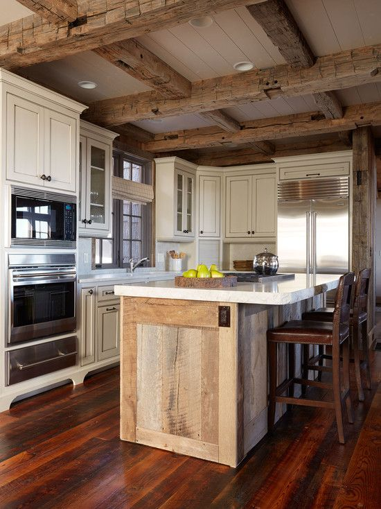146 best Mountain House Kitchen Ideas images on Pinterest | Kitchen Reclaimed Rustic Beam Kitchen Ideas on kitchen white beams, kitchen granite, kitchen natural beams, kitchen tv, kitchen ceiling lights, kitchen ceiling planks, kitchen renovations, kitchen bay windows, kitchen ceiling beams, kitchen stone, kitchen arches, kitchen brick walls,