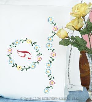 Monogram Pillowcases | Jack Dempsey Needle Art & 52 best New Designs 2017 images on Pinterest | Pillowcases White ... pillowsntoast.com