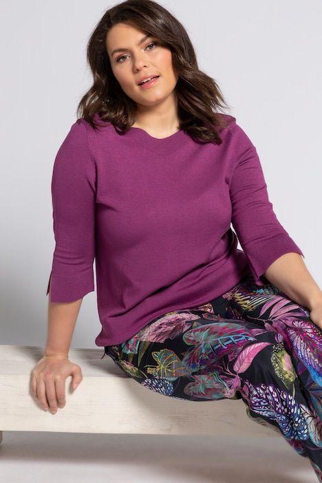 pullover farbe helle pflaume feinstrick aus 70 viskose und 30