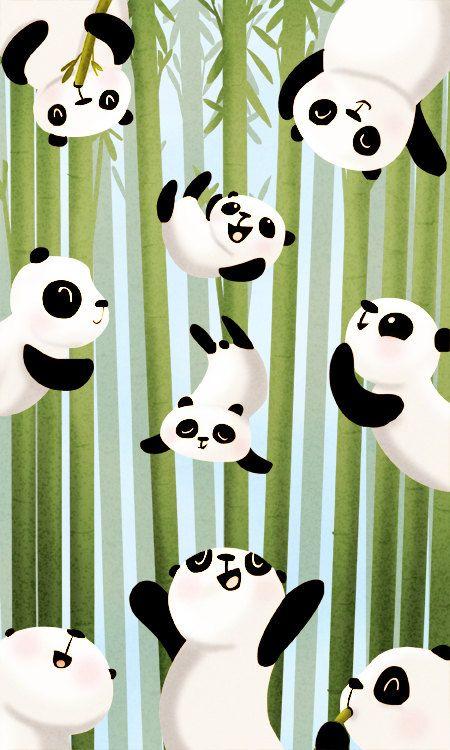 """Panda Art, Panda Painting, Panda, Nursery wall art, Kids Art, Cute Animal Wall Decor - """"Pandamonium"""" - Art Print 13x19. $32.00, via Etsy."""