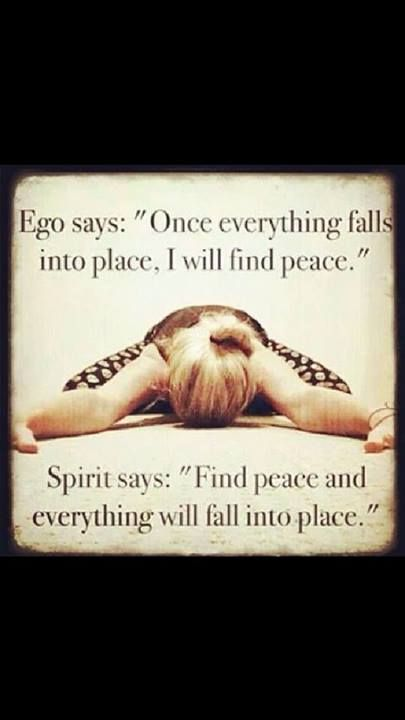 This quote represents spiritual health. It is talking about being at peace with yourself, and how that effects you and your life. Being at peace with yourself is part of spiritual health.