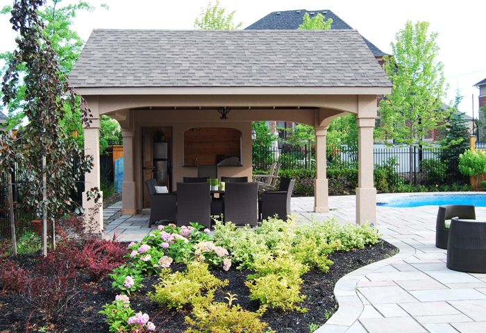 Backyard Pool Houses And Cabanas Featured Construction