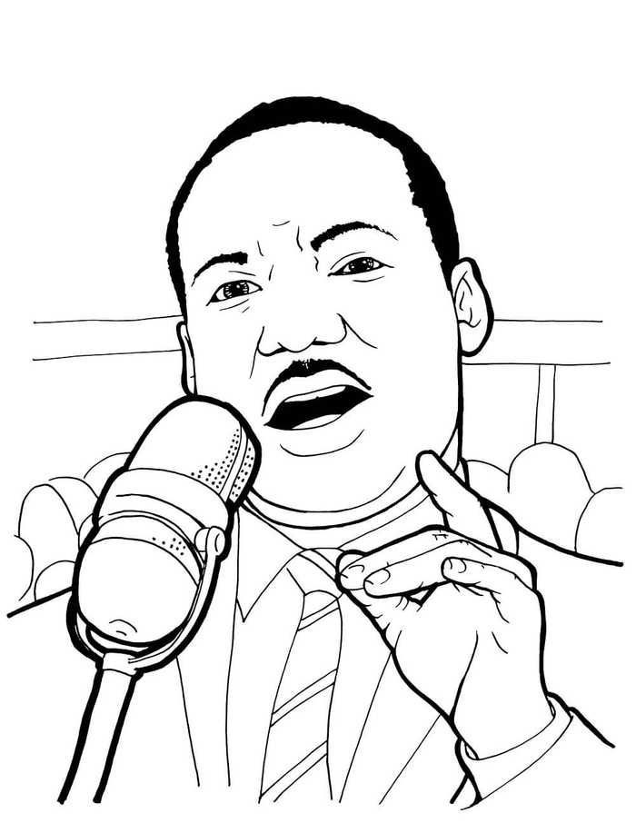 Martin Luther King Jr Coloring Page Martin Luther King Jr Coloring Page Printable In 2020 Martin Luther King Art Martin Luther King Jr Free Dr Martin Luther King