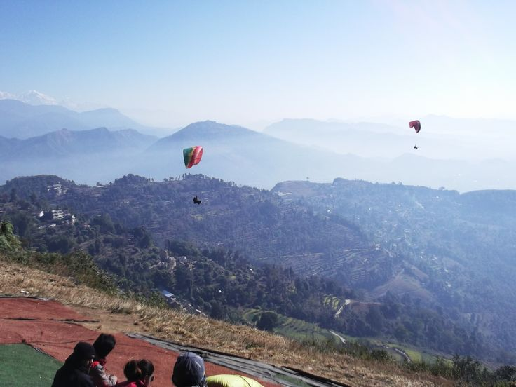 #paragliding #podróże #Pokhara #paralotnia #jezioro #Phewa #Nepal