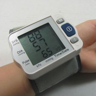 Free shipping world wide Wrist Style Blood Pressure Meter with 150 memories