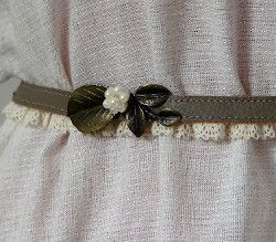 DIY Belt with Lace | AllFreeSewing.com