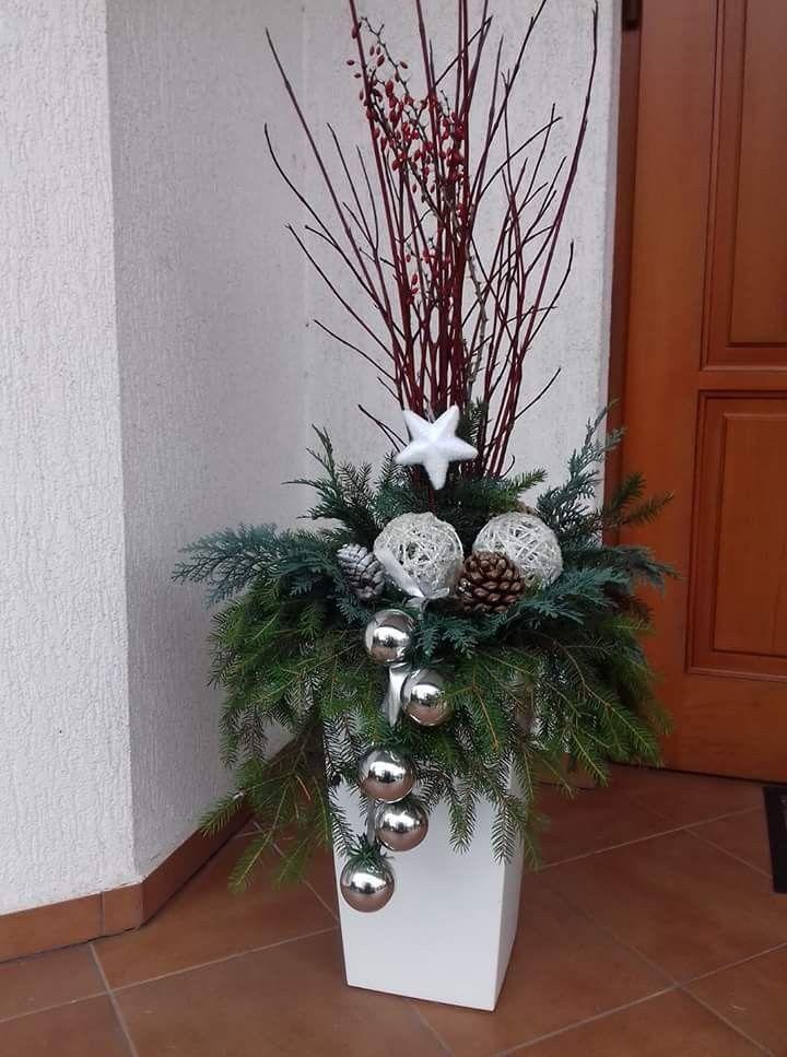Topf Für Draussen Weihnachtsdekoration Weihnachten