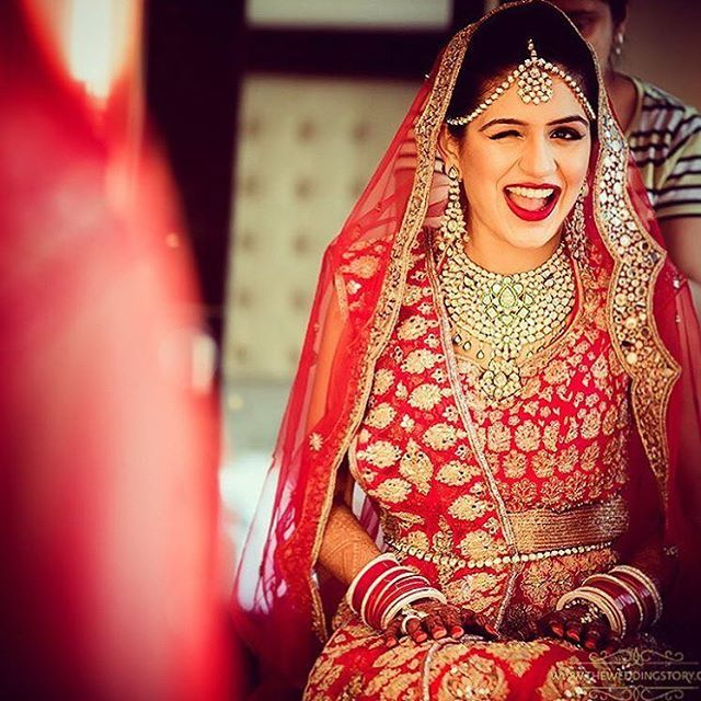 Ohh the wink ! Tag a friend who'd make a bindaas bride! Shot by: @theweddingstoryindia . . . . #wedding #weddingevents #weddingfashion #weddinginspiration #shaadisaga #instagood #weddingphotography #indianbride  #instadaily  #weddingphotography #lehenga #weddinglehenga