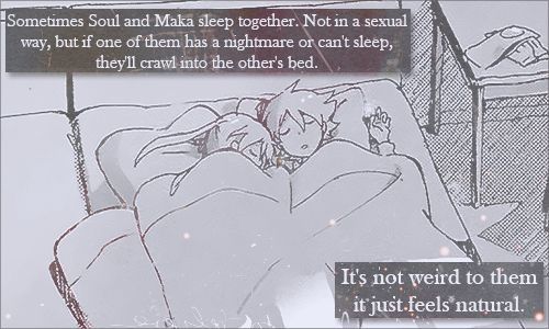 Awww :3 << ^ in the manga it stated that black☆star and tsubaki sleep together in the same bed too