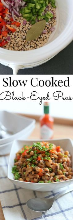 Slow Cooker Black-Eyed Peas. Easy peasy and so delicious! Vegan | Vanilla And Bean