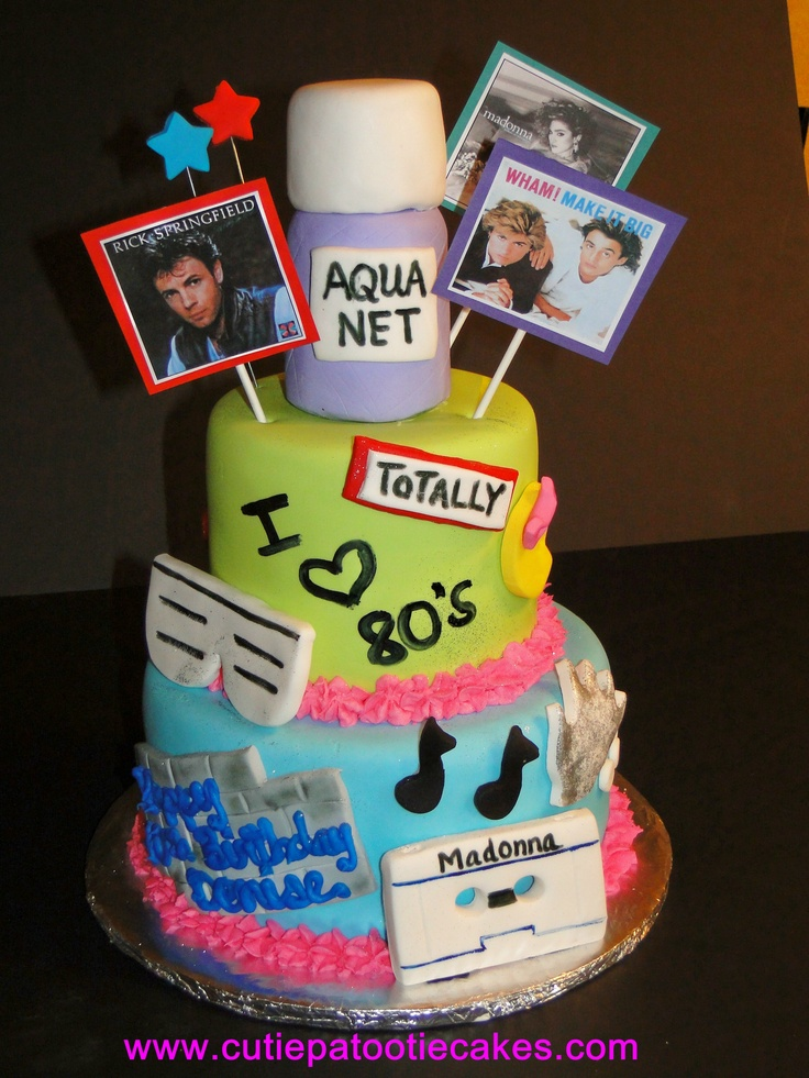 1000 Images About 80 S Cake On Pinterest 30th Birthday