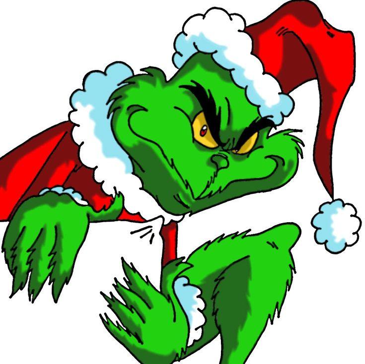 20 Water Slide Nail Art Decal Transfer The Grinch Who Stole Christmas Red Green