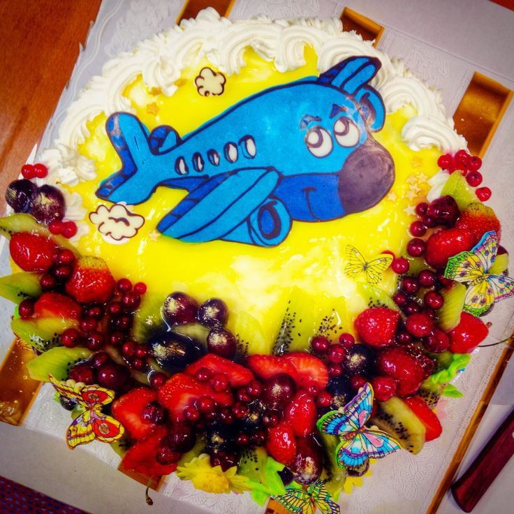 Birthday Cake for our Meetings & Events Supervisor with small airplane.