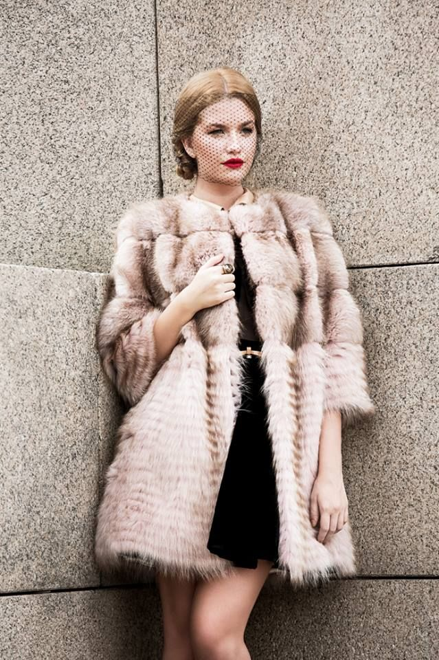 Lovely Iulia and her Paisi mink coat. <3