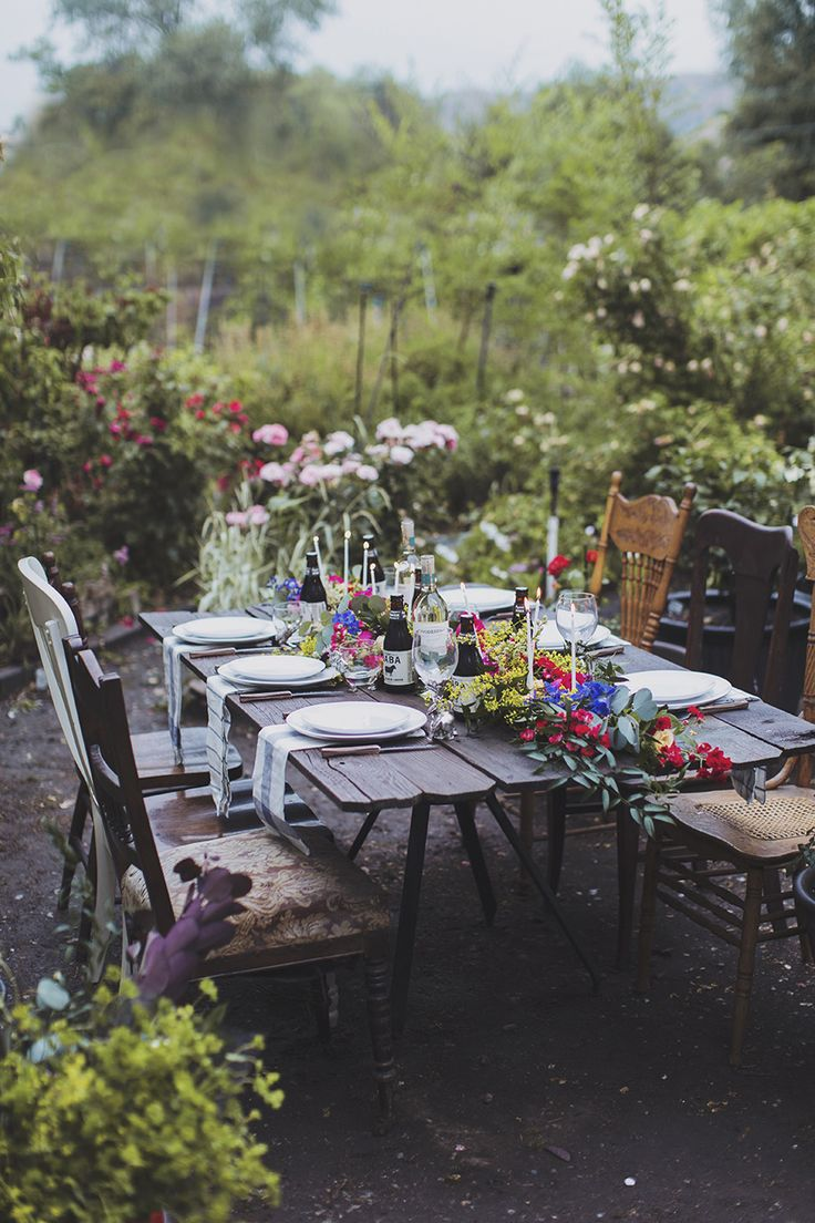 a rustic summer table scape | alixann loosle photography