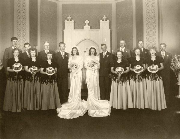 1947 Phil & Muriel, Everett & Carol double wedding