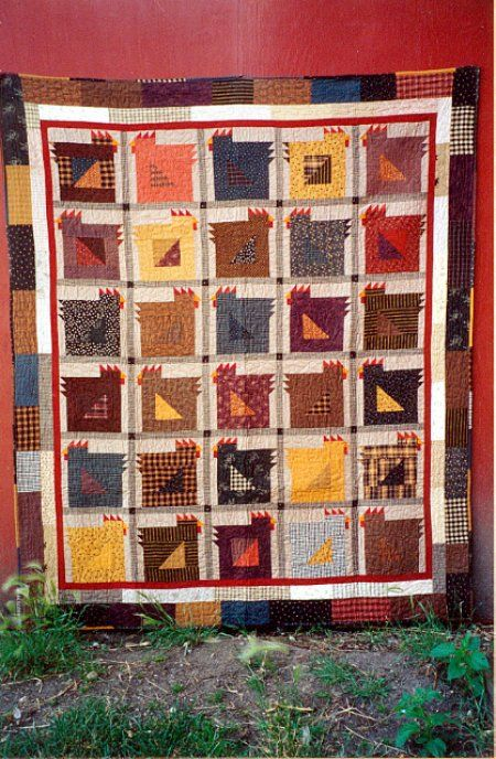 On the list again...Country Threads :: Chicken Quilt Patterns :: Chicken Gumbo Quilt Pattern:
