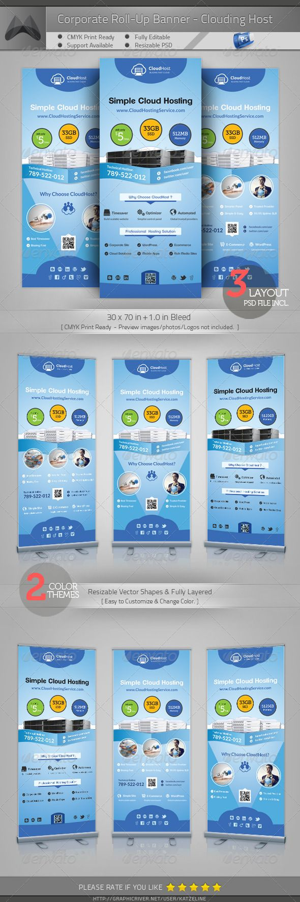 The 112 best roll up banner images on Pinterest | Banner template ...