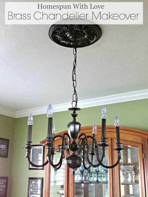 Homespun With Love  diy  Brass Chandelier Makeover     maybe paint the old dining  room chandelier   re use. 83 best DIY Lighting Ideas images on Pinterest   Lighting ideas