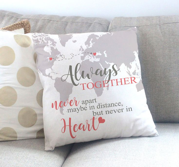 Going Away Gift – Moving Gift for Friend – Long Distance Friend Quote – Housewarming Gift Idea – Personalized Throw Pillow – Accent Pillow
