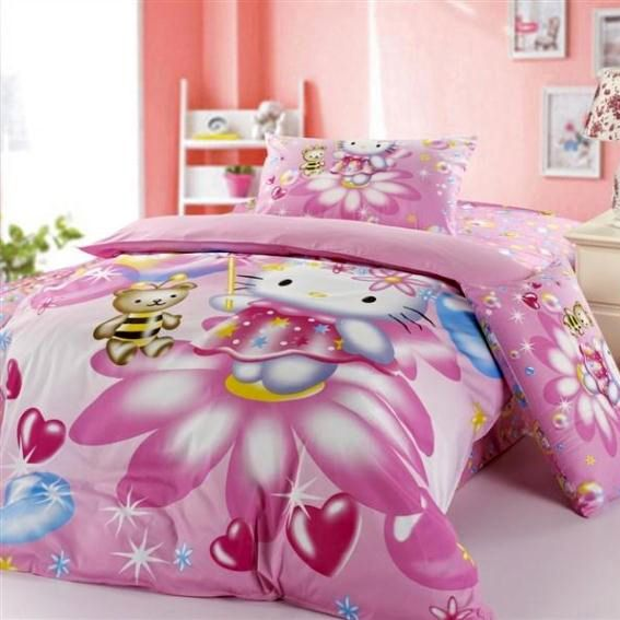 hello kitty bedding for girls new 100 cotton twin full hello kitty bedding set for - Decoration Hello Kitty Chambre