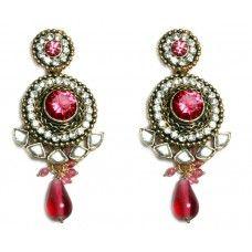 Pink Bollywood Ethnic Earrings