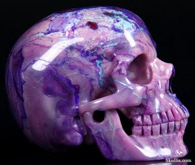 Skullis.com A Crystal Skull a Day: July 19, 2014: Master Teacher - Sugilite Super Realistic Carved Crystal Skull Sculpture