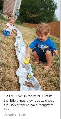 Fun ideas for the Grandchildren:: DIY toddler activities | Kids Activities | Outdoor Fun | Water Play | Trash to Craft |