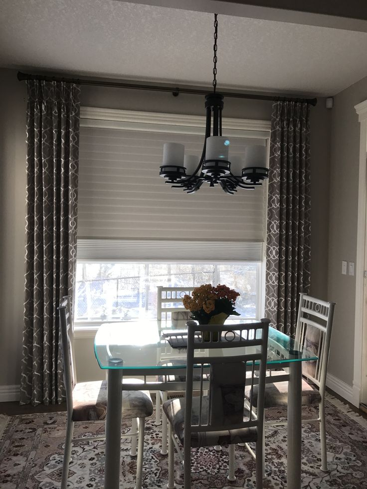 Client had pre-existing Hunter Douglas Silhouettes but was looking for room darkening. We added Hunter Douglas Duettes Shadings behind them to give this effect. Learn more about the many different window covering options available on our website: www.normandeauwc.com